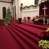 The Sanctuary is already decorated for December weddings.